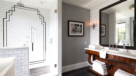 Deco Black And White Bathroom by Cococozy 25 Million Dollar Deco Style Estate See