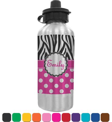 Custom Polka Bottle zebra print polka dots water bottle personalized youcustomizeit