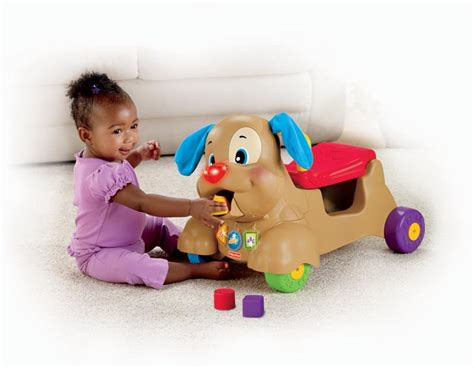 fisher price puppy walker brand new fisher price laugh and n learn musical stride to ride puppy walker ebay