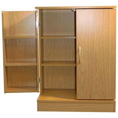 Oak Dvd Cabinet With Doors Columbus Door 324 Cd 213 Dvd Media Storage Cabinet Oak Watson S On The Web