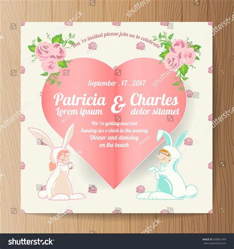 Wedding Invitations With Characters by Wedding Invitation Card Templates Character Stock