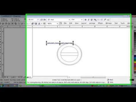 tutorial wpap dengan coreldraw x3 tutorial membuat stempel dengan coreldraw x3 youtube