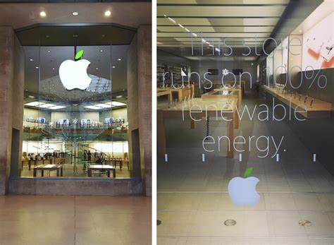 apple store apple stores celebrate earth day with green logos and