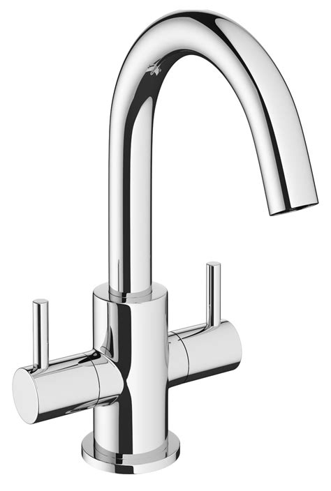 Crosswater Mike Pro Chrome Twin Lever Monobloc Basin Mixer
