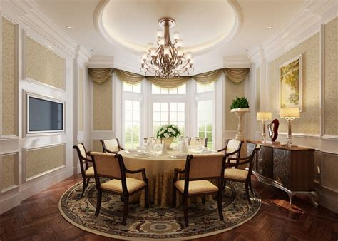 classic dining room interior design with