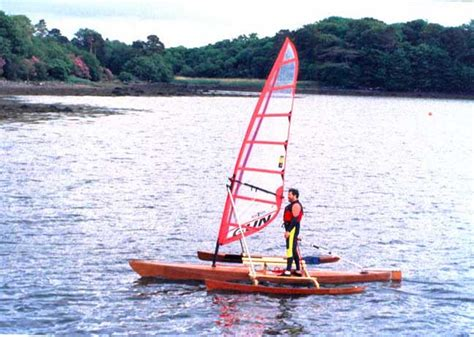 clc boats trimaran completely different approach to a standing board trimaran