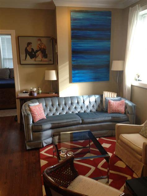 craigslist living room the finished living room vintage 1977 blue velour craigslist 375 mid century