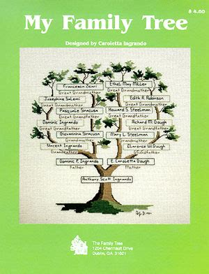 my tree my family tree cross stitch pattern scrapbook your family tree