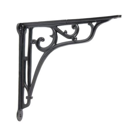 restorers black powder coat iron shelf bracket