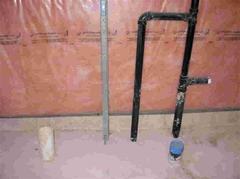 basement bathroom rough plumbing