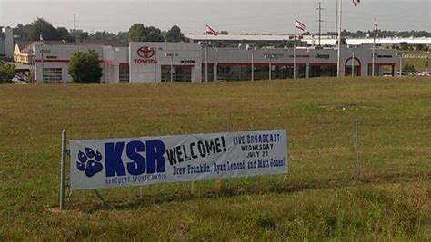 Hudson Toyota Ky A Great Welcome Sign For Our Ksr Tour Stop 19 At Hudson