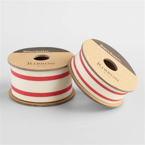 V Ribbon Stripe ticking stripe woven ribbon world market