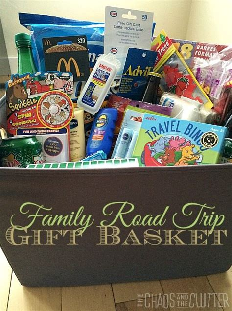 themed gifts for family road trip gift basket