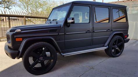 wrapped g wagon mercedes g wagon g500 3m matte black vinyl wrap