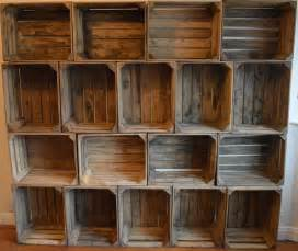 Wooden Shelves Walmart by Set Of 3 Rustic Wooden Apple Crates