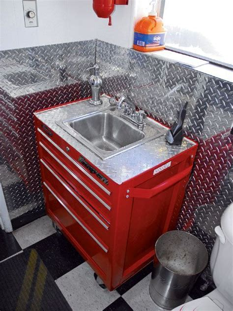 Garage Bathroom Ideas Sink Vanity Made From A Rolling Tool Box Caves Pinterest Cave Caves And Vanities