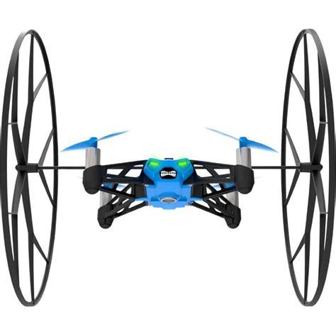drone volante parrot minidrone rolling spider bleu drone parrot sur