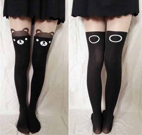 Black White Cat Kaos Kaki tights on storenvy