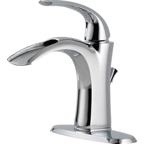 delta bathroom sink faucets shop delta nyla chrome 1 handle single watersense