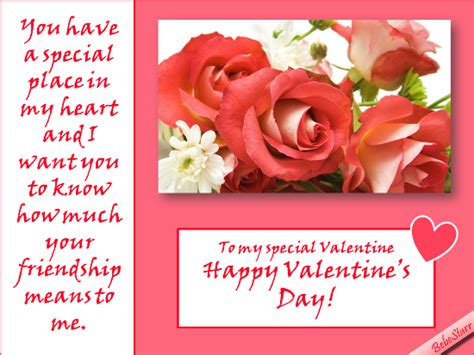 happy valentines day to special friend special place in my free friends ecards greeting