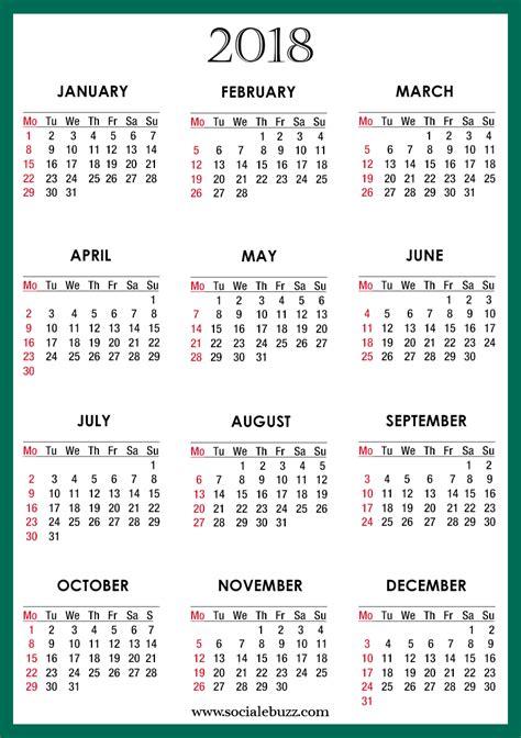 Word Calendar Template 2018 2018 Calendar Template Free Blank 2018 Template Calendar
