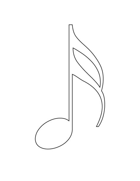 musical note free colouring pages