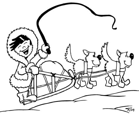 free coloring pages of inuit sled dogs dog sled 2 transportation printable coloring pages