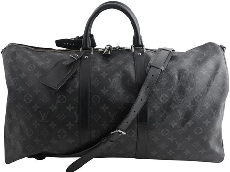 louis vuitton keepall monogram eclipse bandouliere