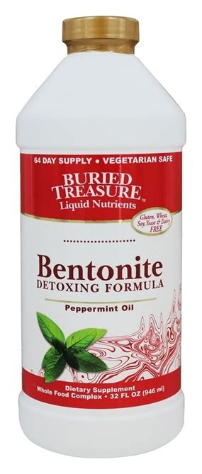 How Does It Take To Detox With Bentonite Clay by Bentonite Detoxing Formula 32 Oz Buried Treasure