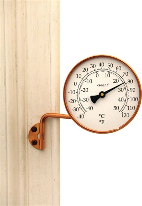 Decorative Outdoor Thermometer by Vermont Thermometer Copper Weather Station Traditional Decorative Thermometers By Weems