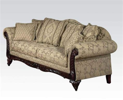 acme sofa fairfax 52370 sofa in camel fabric by acme w options