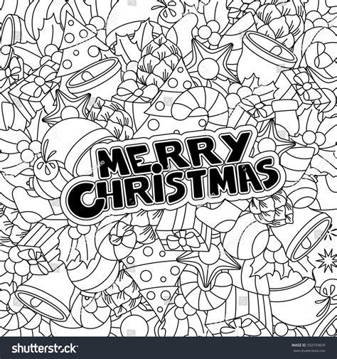 doodle merry merry doodle pattern design vector background