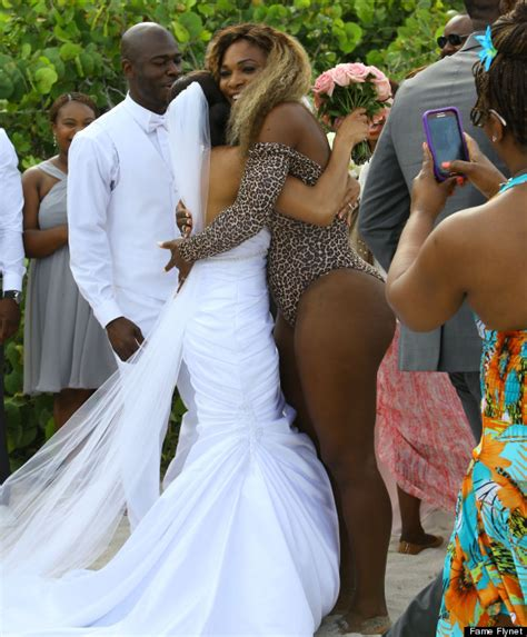 Wedding Pix by Serena Williams Crashes Wedding In A Leopard Swimsuit