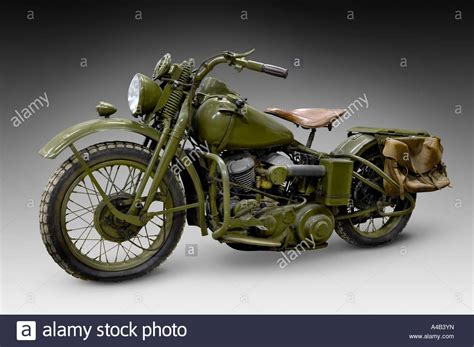 Vintage Harley Davidson Photos by Harley Davidson Wla 42 Vintage Motorcycle Stock Photo