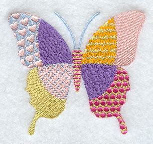 Patchwork Butterfly - machine embroidery designs at embroidery library