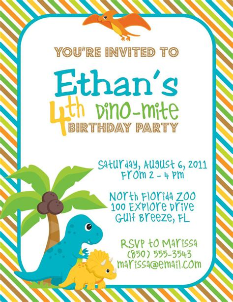 printable birthday invitations dinosaur party so perfect s vendor listing catch my party