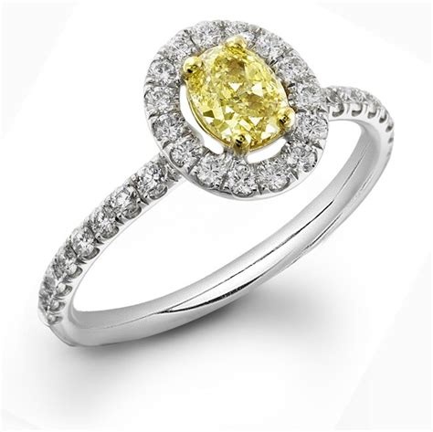 fancy yellow oval halo micro pave