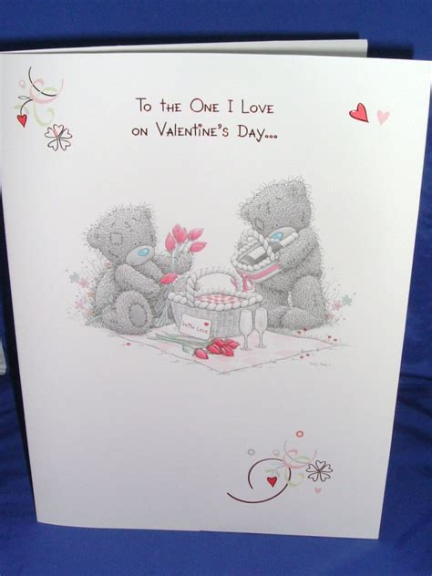 From Me To You Gift Card - me to you large luxury valentine card to the one i love on valentine s day