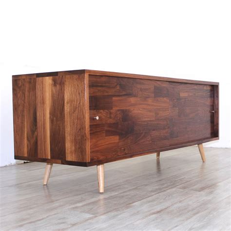 mid century media console low walnut mid century media console jeremiahcollection