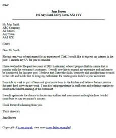 Application Letter For Kitchen Staff Chef Cover Letter Example Icover Org Uk