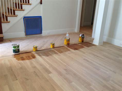 Minwax Floor Stain by Minwax Floor Stains For White Oak Flooring Far Left Just Polyurethane Second From Left Gray