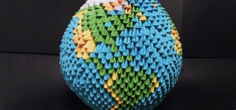 How To Make A Sphere With Paper - how to make a sphere shaped origami earth difficult
