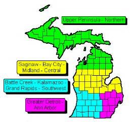 Michigan Zip Codes Map by Michigan State Amp Regional Zip Code Wall Maps Swiftmaps Com