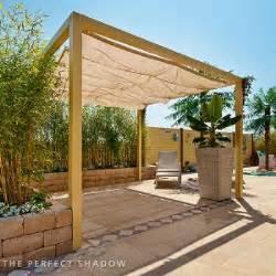 wintergarten fertigbausatz pergola mit faltsonnensegel 210x300