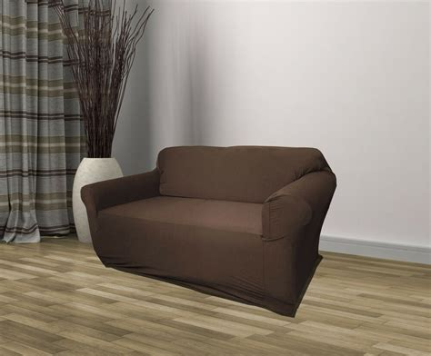 The Couches by Brown Jersey Loveseat Stretch Slipcover Cover
