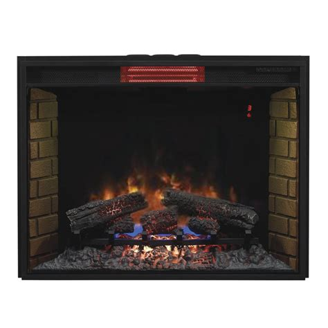 Electric Infrared Fireplace Insert by Classic 33ii310gra 33 Inch Electric Infrared Fireplace Insert With Safe