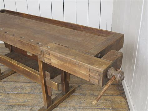 woodworking bench sale antique woodworking vintage bench with two vices
