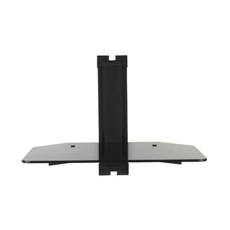 Omnimount Component Shelf Black by Omnimount Low Profile Component Wall Shelf Black Glass Mod1