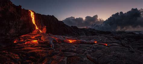 wallpaper rock nature sunrise volcano rocks island
