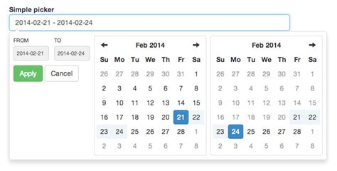 printable calendar by date range datetime picker using bootstrap phpsourcecode net